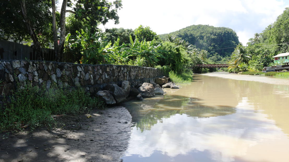 River Bank Stabilisation at Anse La Raye, St. Lucia.