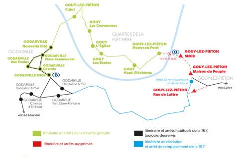 GOUY-LEZ-PIÉTON : NAVETTE GRATUITE
