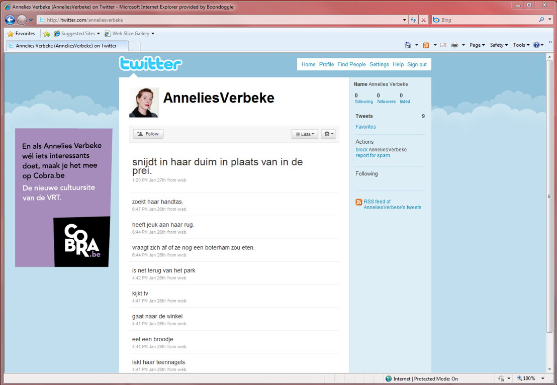 Online - Twitter - Annelies Verbeke