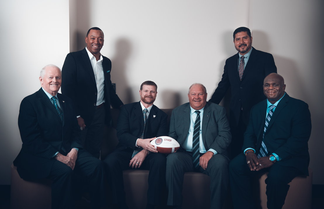 The Canadian Football Hall of Fame Class of 2017. Photo credit: Johany Jutras/CFL