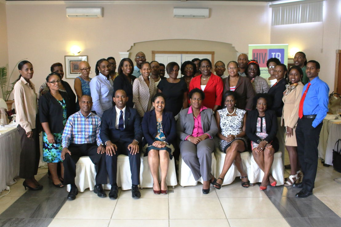 Group photo of participants in the OECS HIV/STI Guidelines Working Group.