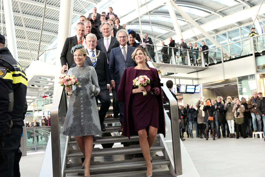 Visite royale à la gare d'Utrecht