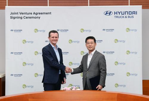 Hyundai Motor et H2 Energy concluent un accord de partenariat pour devenir le fer de lance de la mobilité basée sur l'hydrogène en Europe