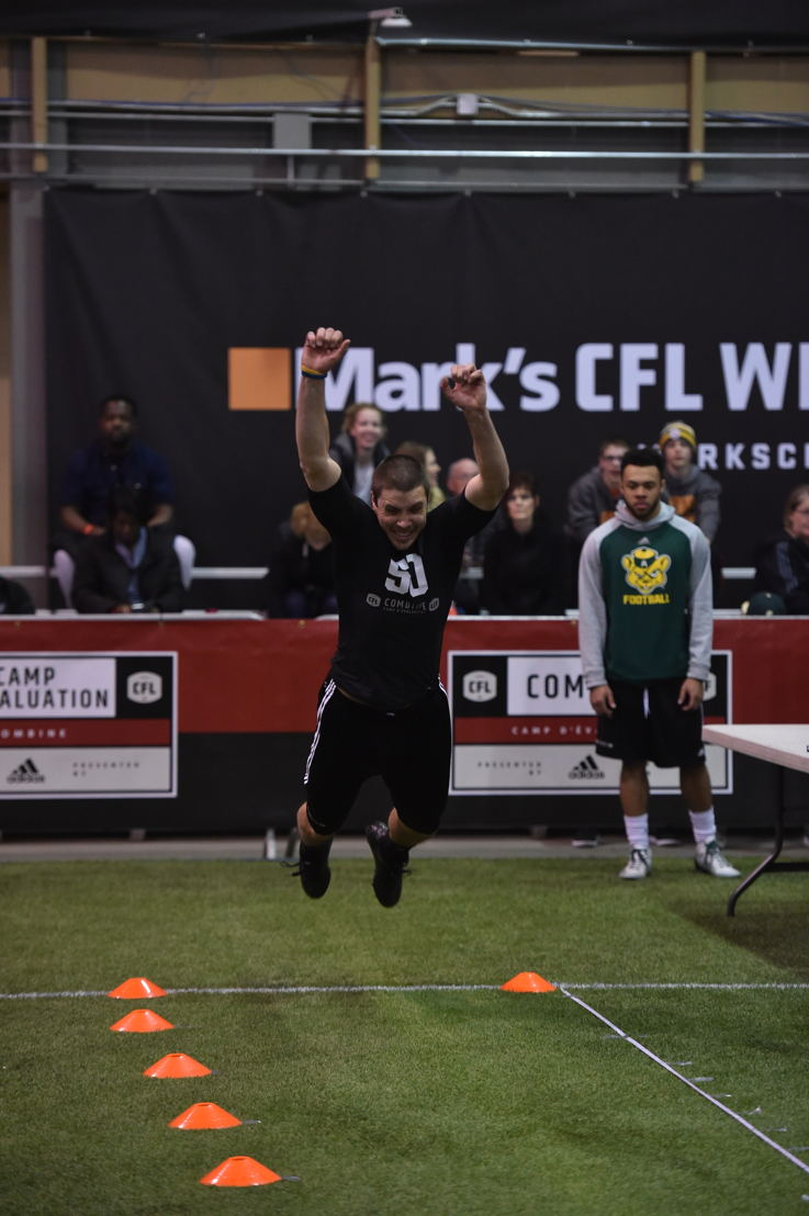 Alex Morrison at the Western Regional Combine presented by adidas. Photo credit: Matt Smith/CFL