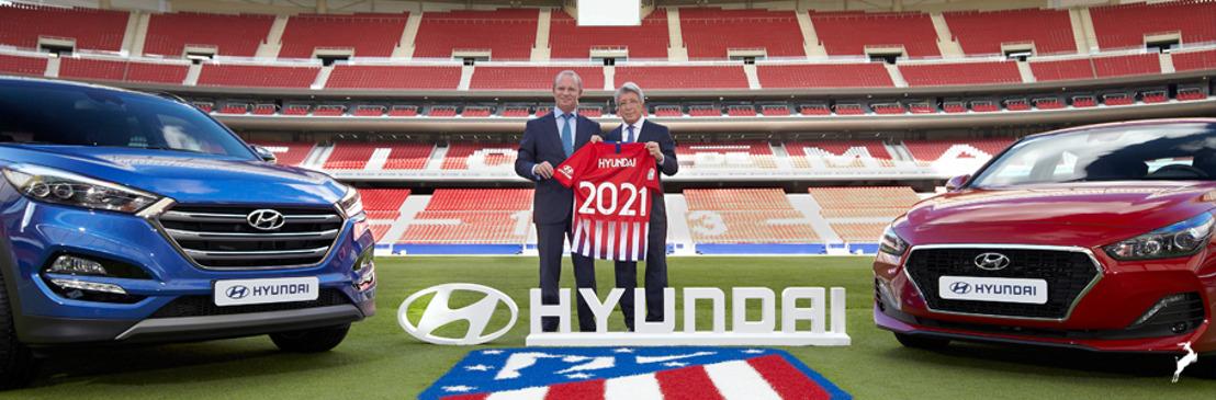 Hyundai Motor se convierte en el patrocinador mundial de autos del Club Atlético de Madrid con un nuevo acuerdo multianual