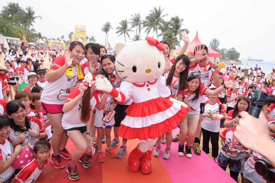 Corriendo alrededor del mundo con Hello Kitty.