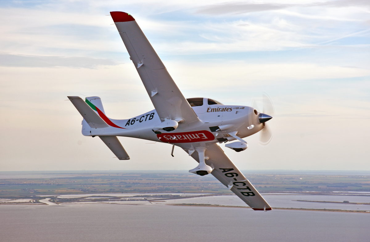 The Emirates Flight Training Academy's Cirrus SR22 G6