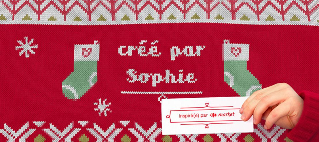 Prophets anime un pull de Noël pour Carrefour market