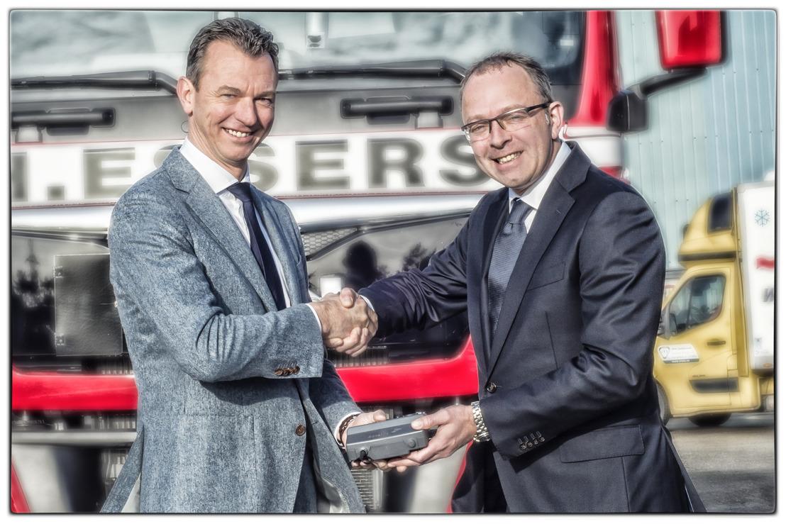 DKV enregistre son 40 000e OBU pour le prestataire de services logistiques  H. Essers (Genk)