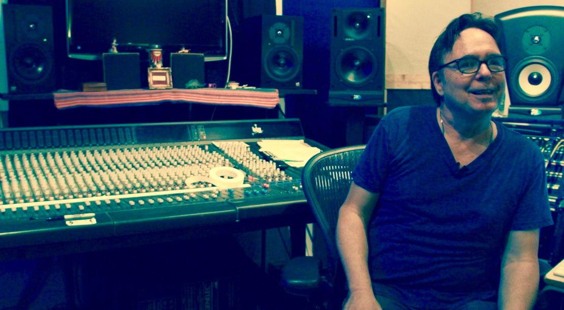 Mark Hallman in the recording studio - still from The Shopkeeper
