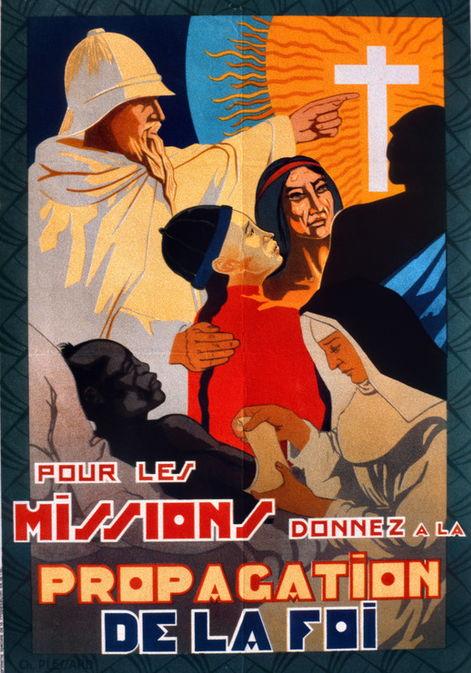 AKG8522426 Affiche pour les missions catholiques dans les colonies (c) Alain Gesgon / CIRIP / akg-images