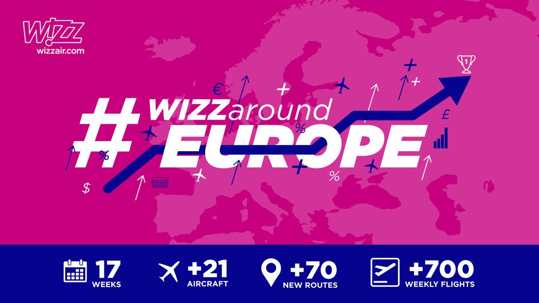 #WIZZaroundEurope: WIZZ AIR LANCE SON PLUS GRAND ACCROISSEMENT OPÉRATIONNEL
