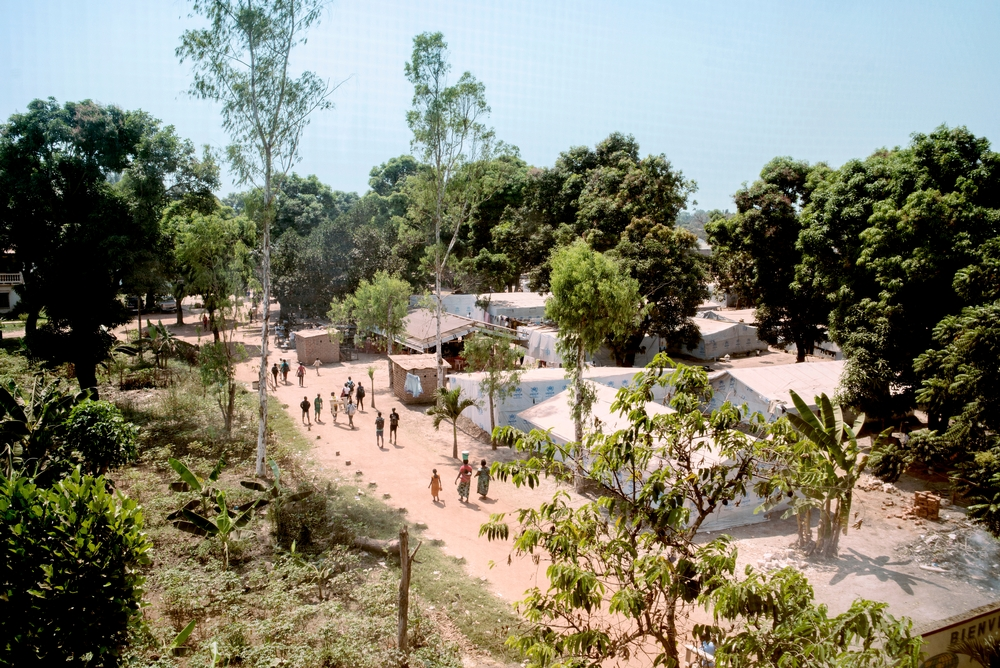 MSF159618<br/><br/>General view of a displaced persons camp in Fateb, Bangui.