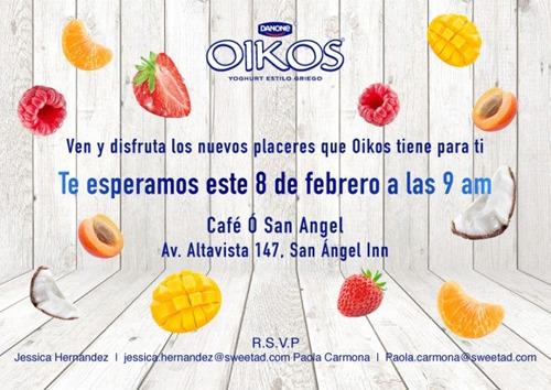 ¡Te esperamos este jueves 8 de febrero a que conozcas la nueva experiencia OIKOS!