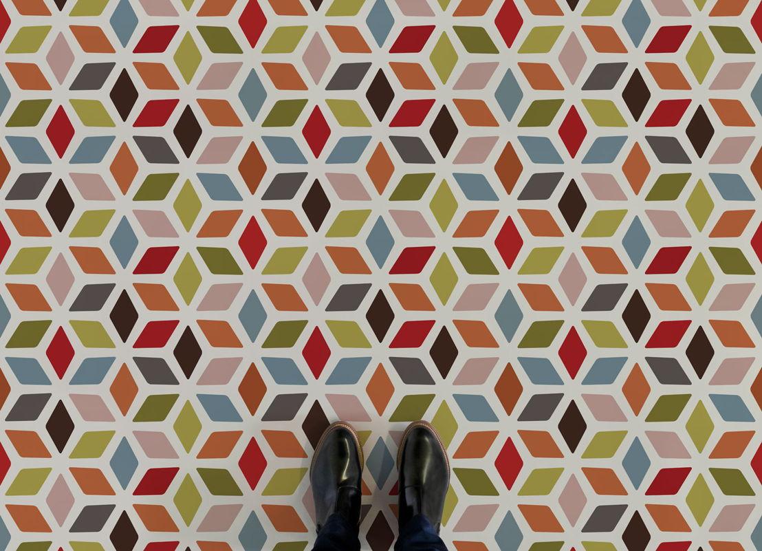 Cindy |   <br/>Colourful Retro Vinyl Flooring