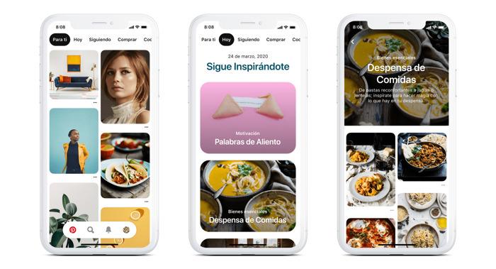 """Pinterest presenta la pestaña """"Hoy"""" para inspiración diaria"""