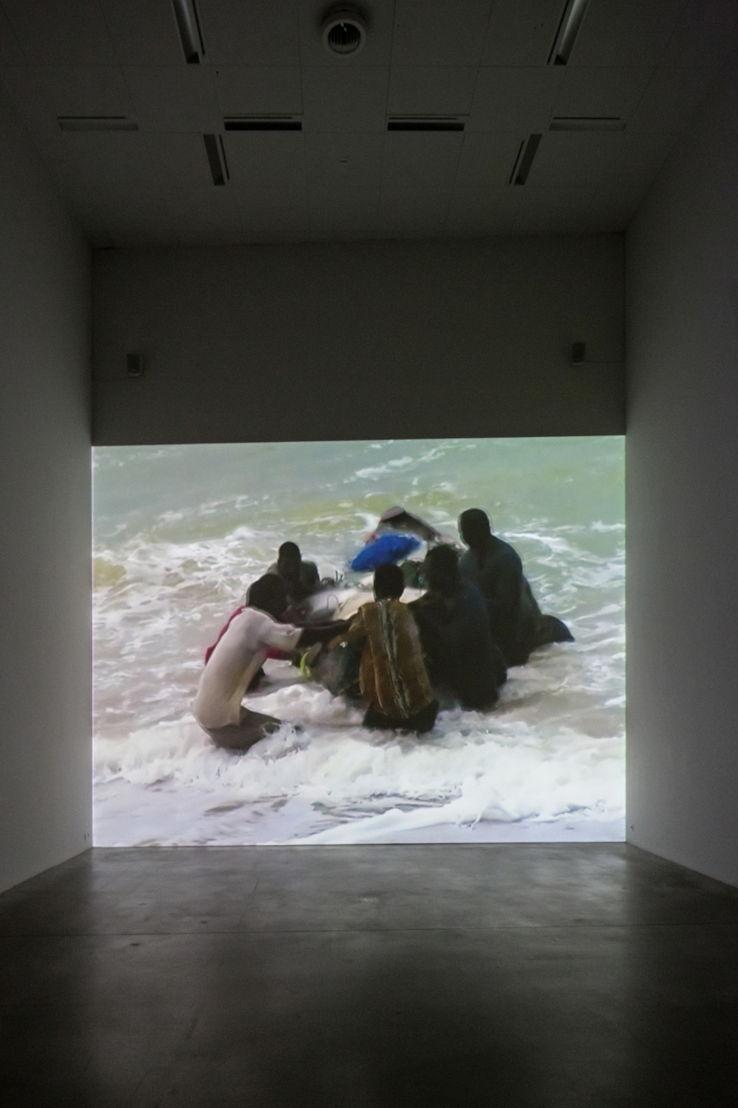 Eija-Liisa Ahtila, Fishermen, installation view M © Koen De Waal