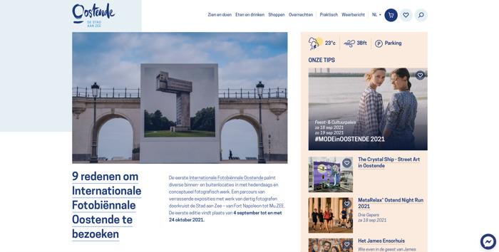 Toerisme Oostende vzw lanceert vernieuwde website met webshop en podcasts