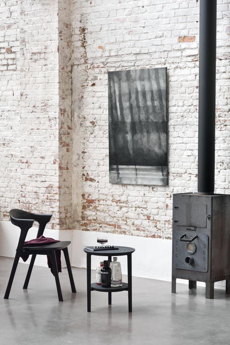 Ethnicraft Oak Bok dining chair & Bok side table in Black
