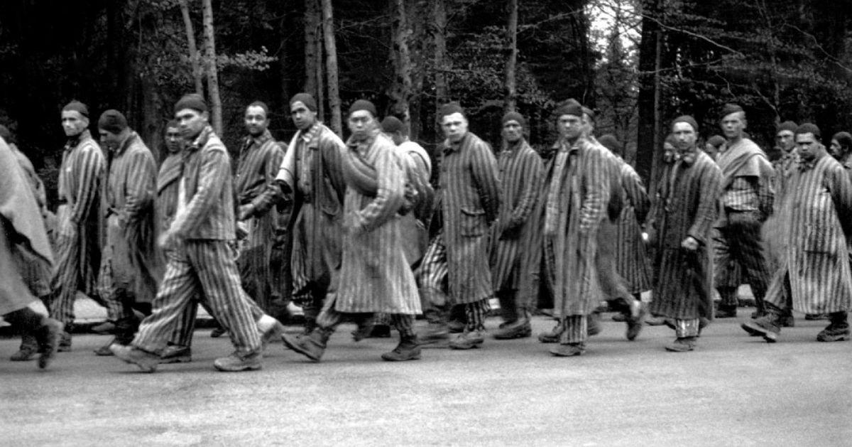 Gevangene tijdens dodenmars