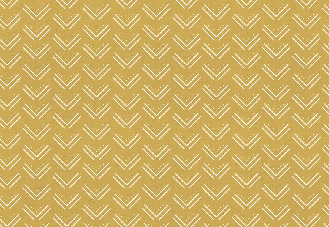Yellow Tribal Arrows Wallpaper Mural