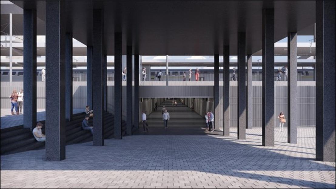 Gare de Charleroi-Sud : Construction d'un nouveau couloir sous voies et aménagement de ses accès