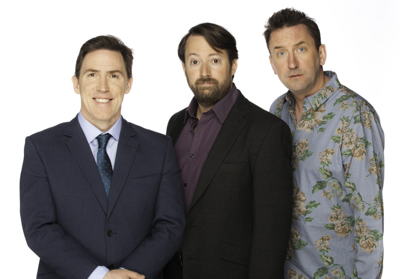 Would I Lie To You - presenter Rob Brydon and Team Captains David Mitchell and Lee Mack