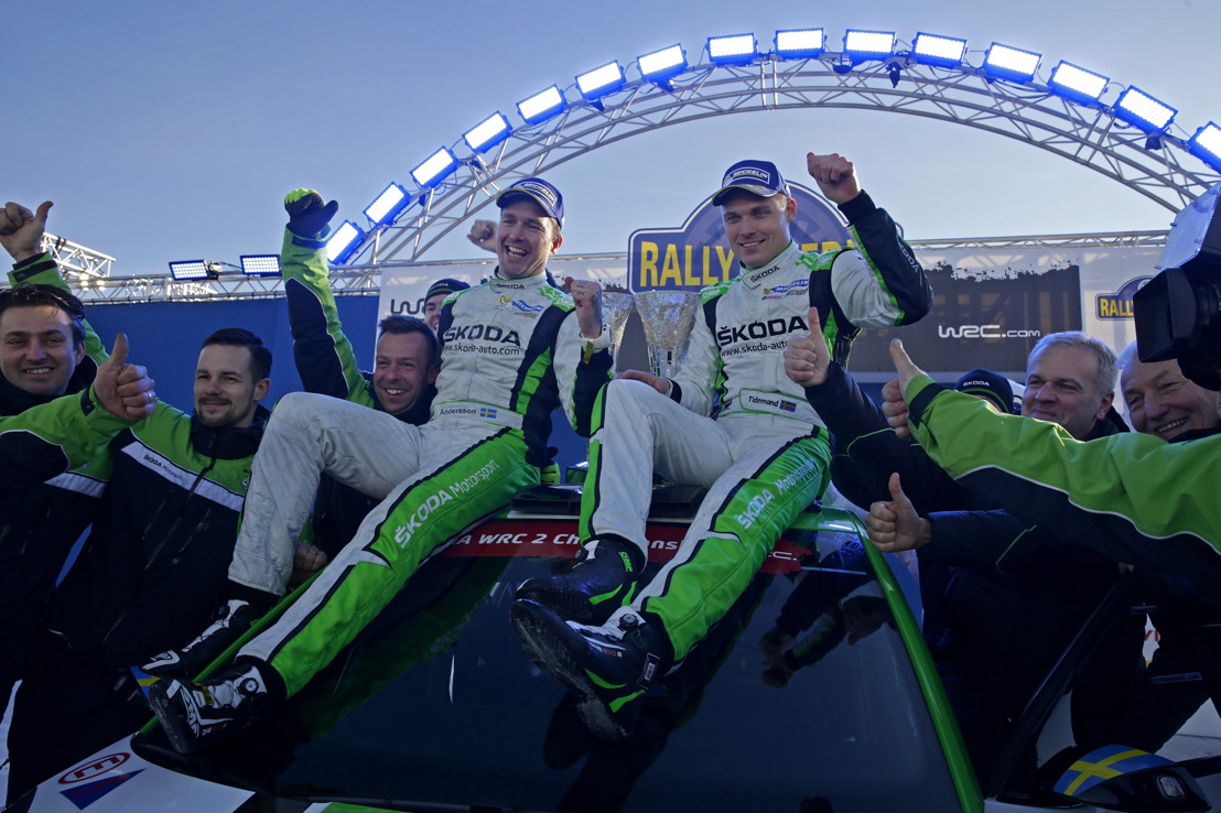 Rally Sweden: Tidemand takes acclaimed home win in the ŠKODA FABIA R5
