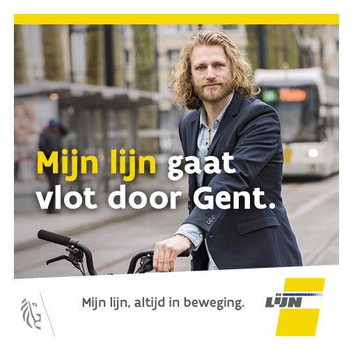 Campagnebeeld Mijn lijn gaat vlot door Gent