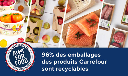 18 mars - Journée Internationale du Recyclage : 96% des emballages des produits Carrefour sont recyclables