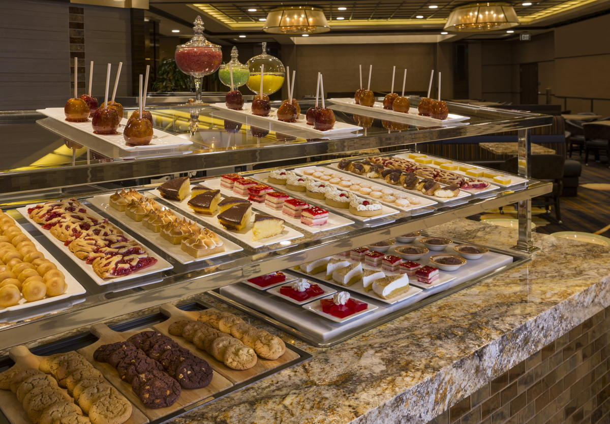 Sweet treats for everyone's taste on the Monarch Casino Resort Spa dessert bar