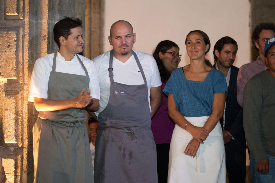 Chefs Jorge Vallejo de Quintonil, Eduardo García de Máximo Bistrot y Gabriela Cámara de Contramar