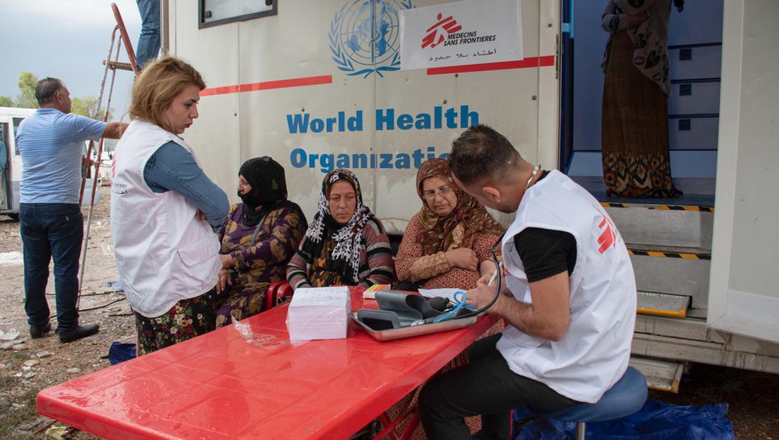 MSF inicia actividades médicas en la frontera entre Irak y Siria para atender a los desplazados que huyen del conflicto en el noreste sirio