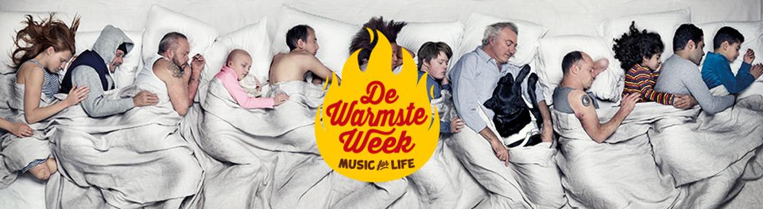 Iedereen zorgt voor iedereen tijdens de Warmste week van Music for life