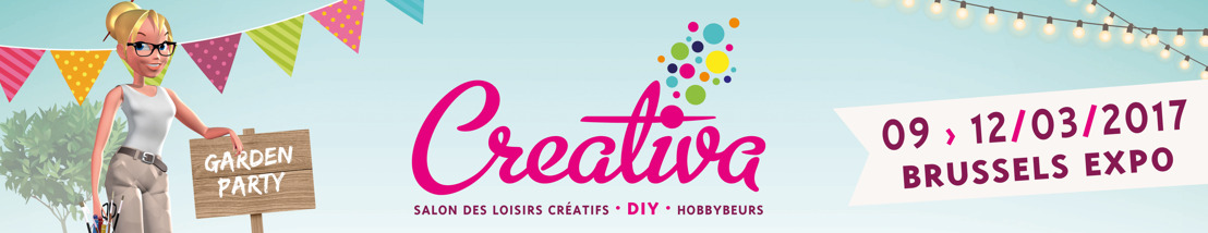 Ne manquez pas le Pinterest grandeur nature de Creativa, LE salon n°1 des loisirs créatifs & du « Do It Yourself » pour tous les curieux en quête des dernières tendances créatives à Brussels Expo! (9/03 – 12/03)