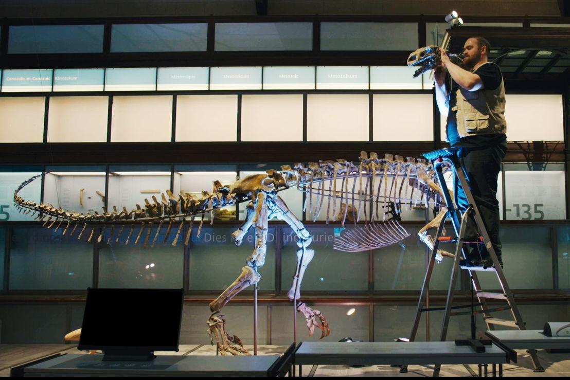Leven in steen - Aldo Impens construeert plateosaurus Ben