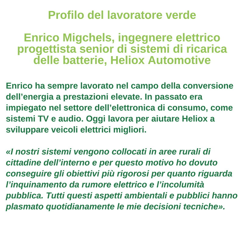 Profilo del lavoratore verde - Enrico Migchels