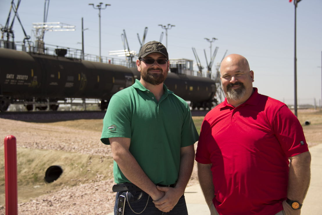 Pictured Left to Right: Seth Irmiter, Canton Assistant Terminal Manager, and Kile Schwardt, Canton Terminal Manager.