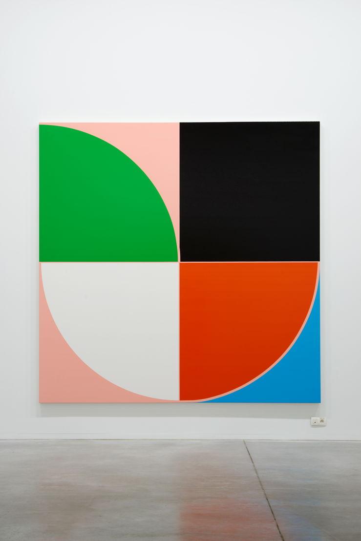 Sarah Morris. Casa das Canoas [Rio], (2013)<br/>Friedrich Petzel Gallery<br/>(c) Dirk Pauwels
