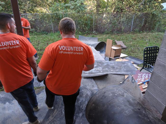 Employee Volunteers Transform Basement of Casa San Jose's Facility