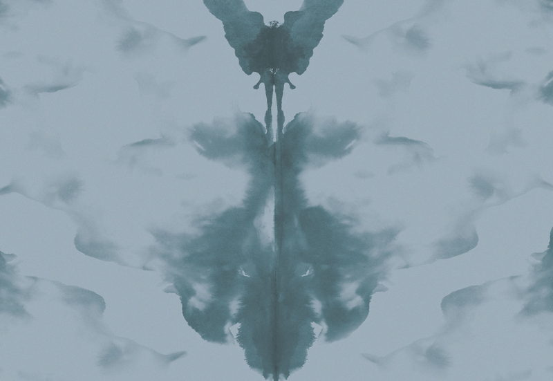 Blue and Teal Rorschach