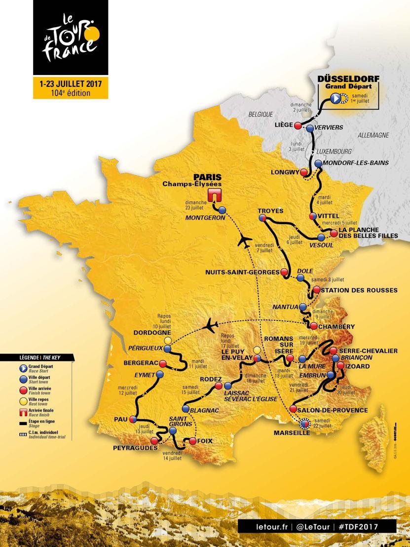 Parcours Tour 2017