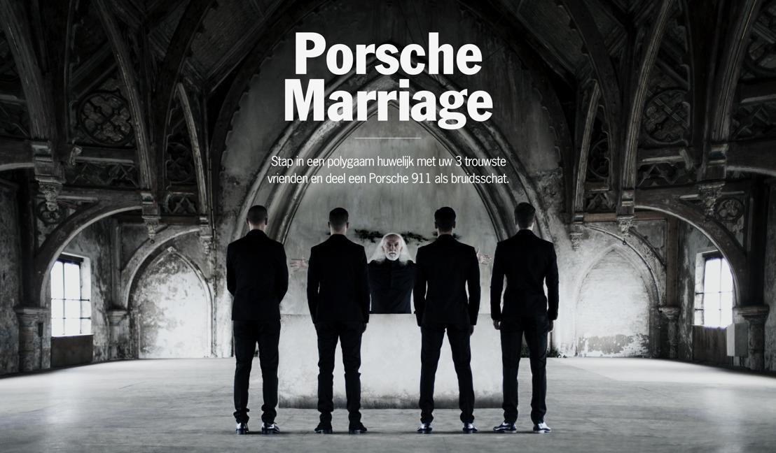Porsche organiseert polygaam huwelijk voor de lancering van Share a Porsche