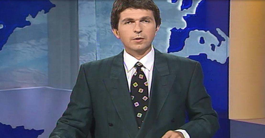 1997 : Ivo Belet presenteert Het Journaal - (c) VRT