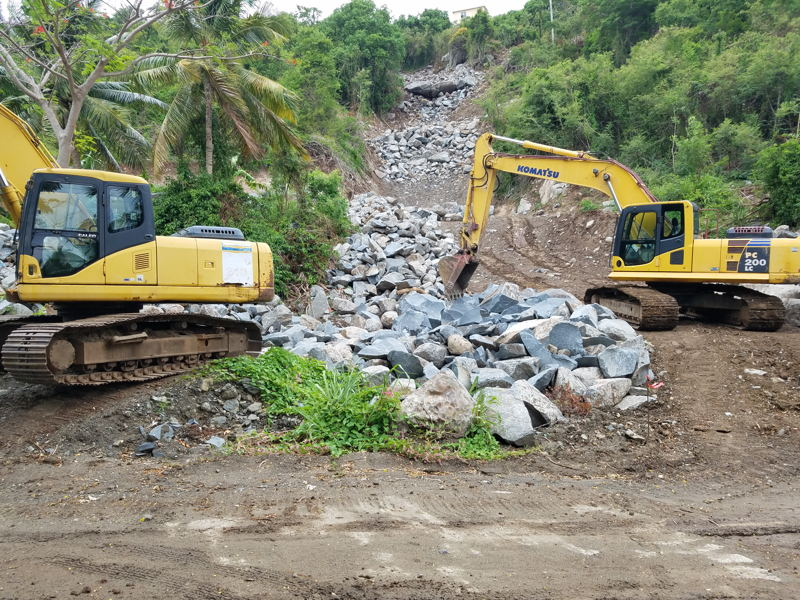 The drainage project financed under the iLAND Resilience Climate Change Project.