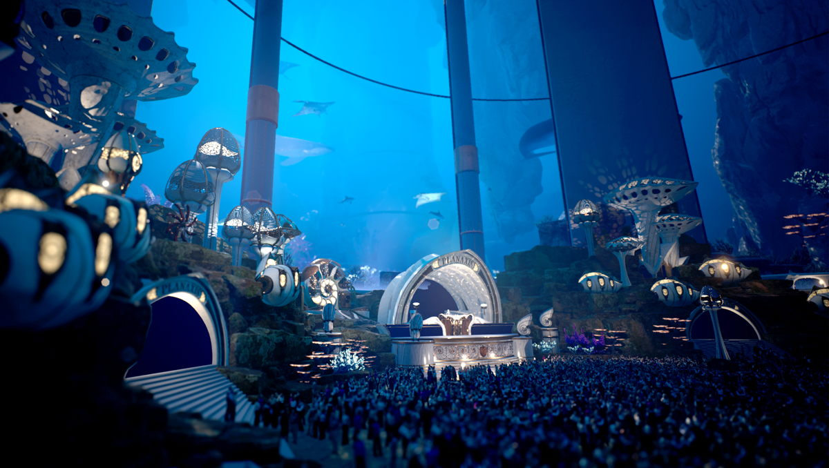 Exclusive preview of the brand-new Planaxis stage -  giving festival visitors a first taste of what they can expect at Tomorrowland 31.12.2020