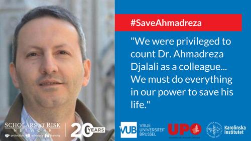 Dr. Ahmadreza Djalali vijf jaar gevangen