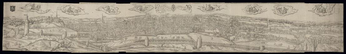 Vue de Louvain, ville d'art, de culture et de science, Anvers, ca 1540, Bibliothèque royale de Belgique, Cabinet des Estampes, S I 23172.