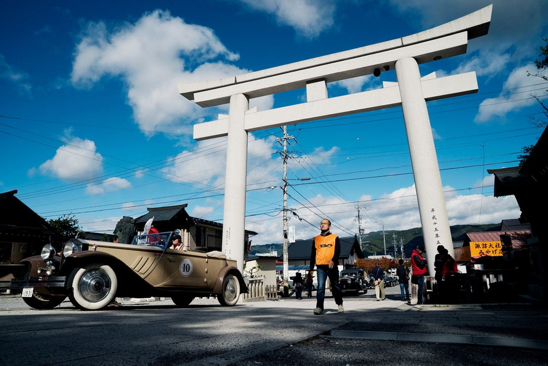 Car model: 1931 Rolls Royce Phantom II Croydon by Brewster<br/>Location: Suwa-Taisha Shrine