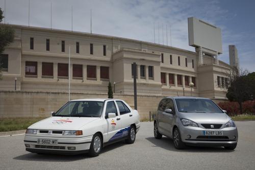 Elektrische wagens op de olympische heuvel